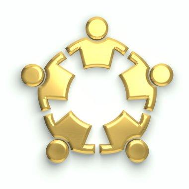 People gold logo
