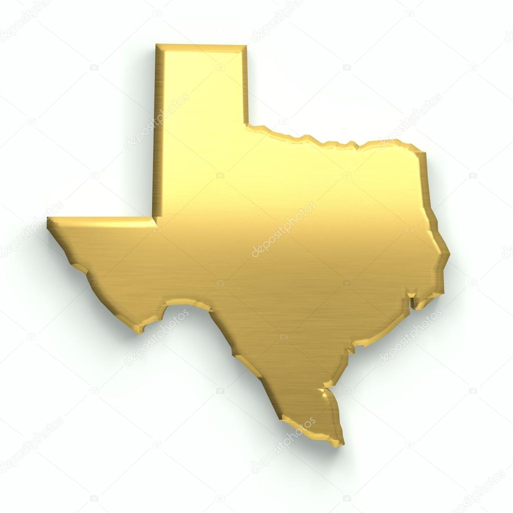 Texas State Gold Map Stock Photo Deskcube - A map of the state of texas