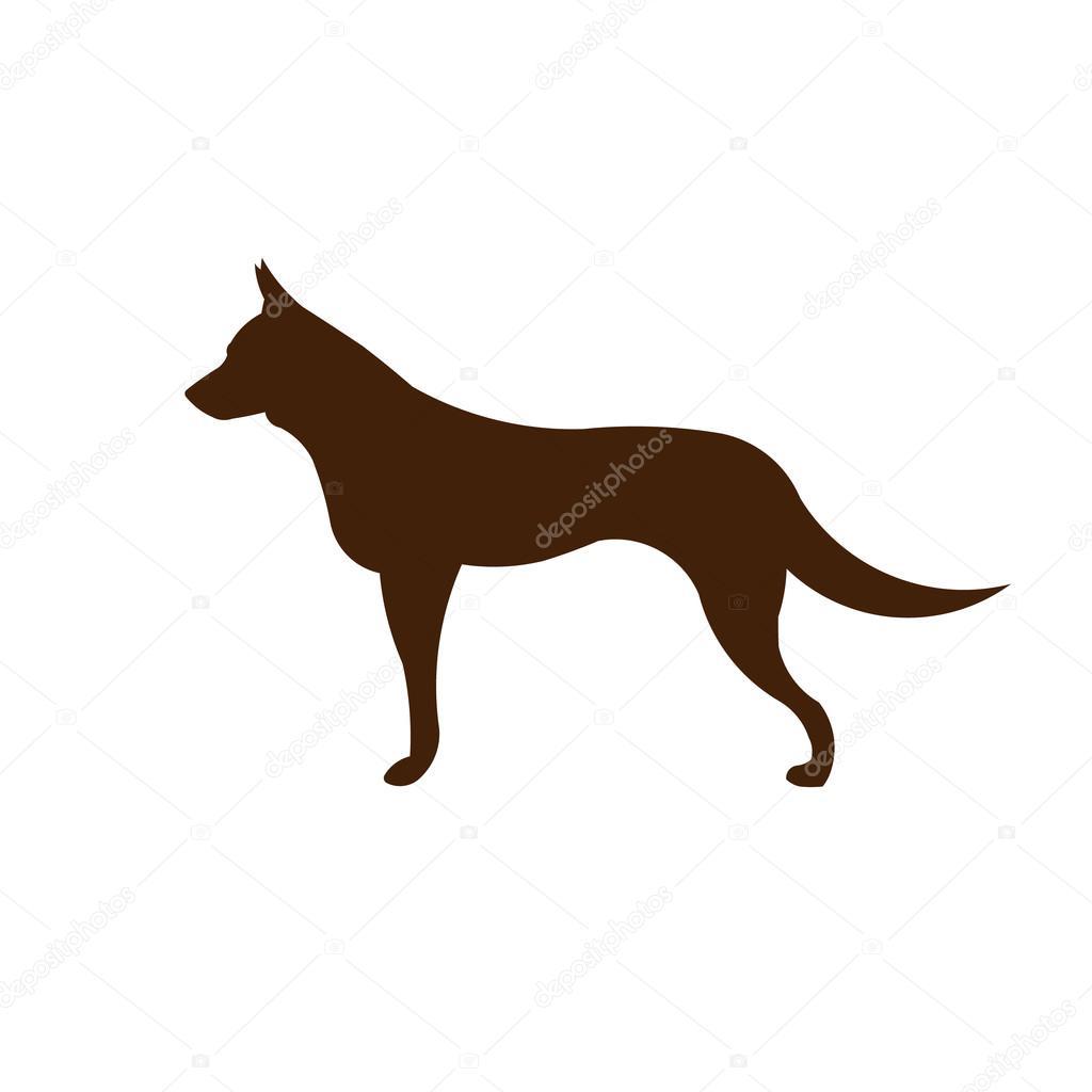 Shepard dog logo