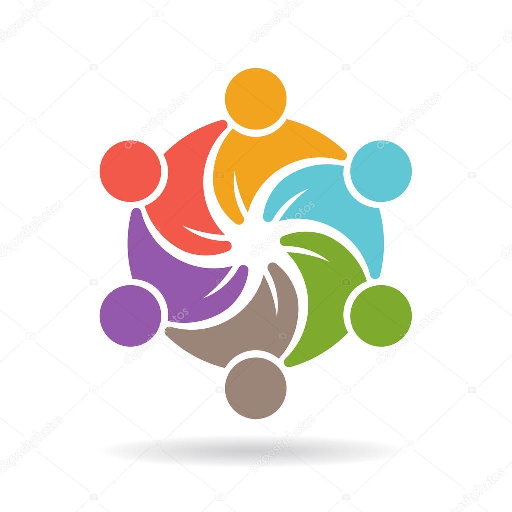 mod u00e8le de logo de personnes  r u00e9seau de m u00e9dias sociaux  u2014 image vectorielle deskcube  u00a9  85621866