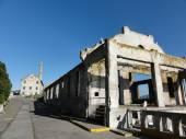 Fotografie Western-Möwen Rest an alten Gebäuden entlang Pfad auf Alcatraz