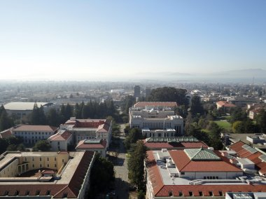 Birds eye view of Historic and modern Buildings of UC Berkeley C