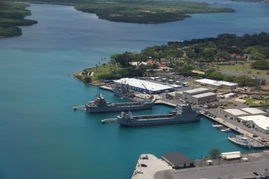 Navy Boats docked in Pearl Harbor