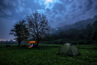 Night's sleep in the camp on the nature