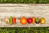 Fényképek Egészséges ételek. őszi betakarítás. nyers étel a vegetáriánusok