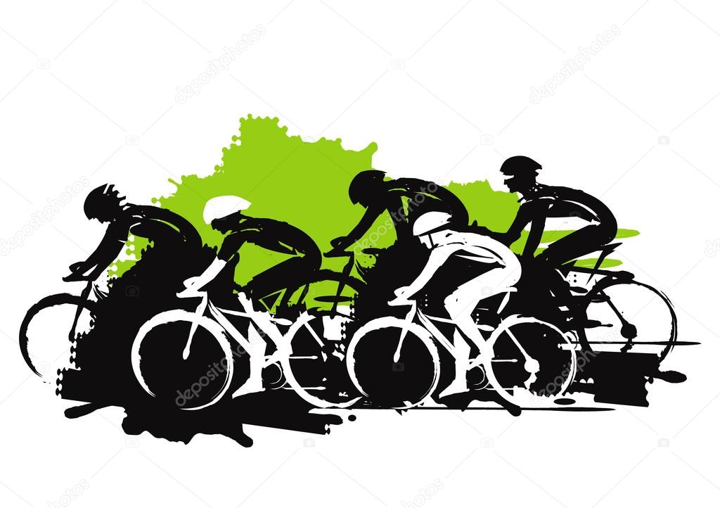 pilotos de ciclismo de estrada vetores de stock chachar 123470660
