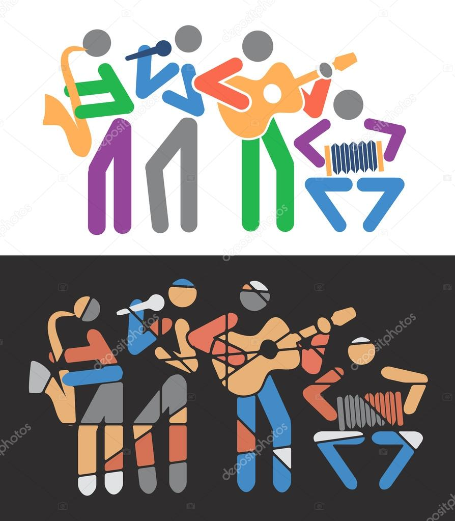 Uncategorized Music Cartoons music groups colorful cartoons stock vector chachar 61409563 61409563