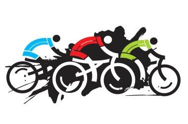Three cyclist