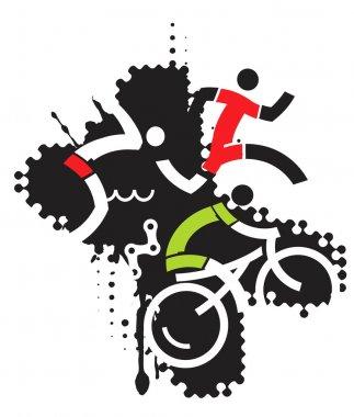 Extreme sport triathlon