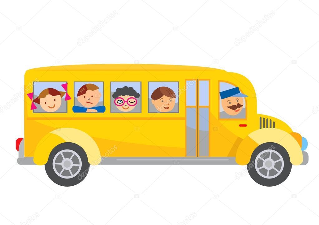 Skolni Autobus Kresleny Stock Vektor C Chachar 82606968