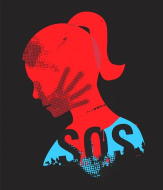 SOS Violence against woman.