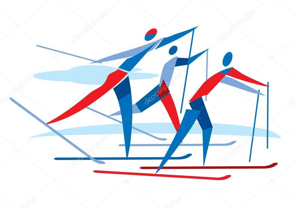 Открытка с победой в соревнованиях по лыжным гонкам, любви анимированные смешные