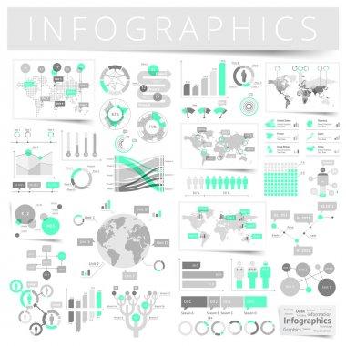 Set of infographics design elements