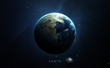 Earth - High resolution 3D images presents planets of the solar system. This image elements furnished by NASA.