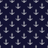 Photo Sea style seamless vector pattern with anchors