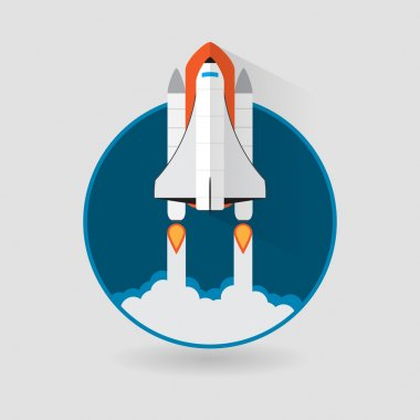 Space Shuttle Launch. Vector illustration