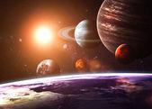 Szolár-rendszerek és objektumok. Ez a kép a Nasa berendezett elemei