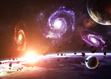 Incredibly beautiful space. Elements of this image furnished by NASA