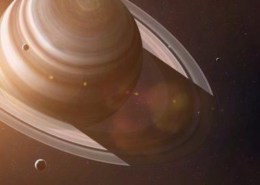 Inscription inspired by the most cryptic planet of Solar System - Saturn. Collage images from NASA.