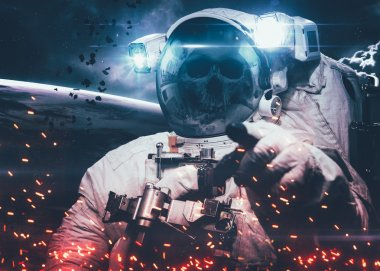 DeadAstronaut in outer space. Elements of this image furnished by NASA.
