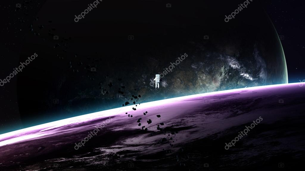 Beautiful fantastic planets in space. Elements of this image furnished by NASA