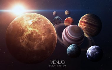 Venus - High resolution images presents planets of the solar system. This image elements furnished by NASA.