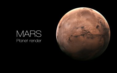 Mars - High resolution 3D images presents planets of the solar system. This image elements furnished by NASA.