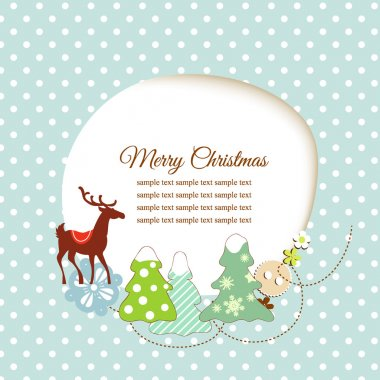 Cute Christmas greeting card stock vector