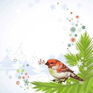 Christmas bird corner decoration