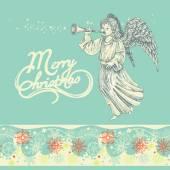 biglietto di auguri di Natale angelo
