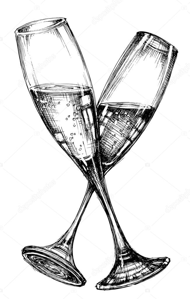 kieliszek do szampana grafika wektorowa  u00a9 danussa 97101830 wine glass clip art black white wine glass clip art black white