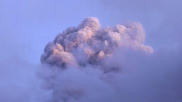 Volcanic Explosion Mushroom In The Sunset Light