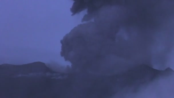 Time Lapse Of Tungurahua Volcano Crater With Amazing Explosion