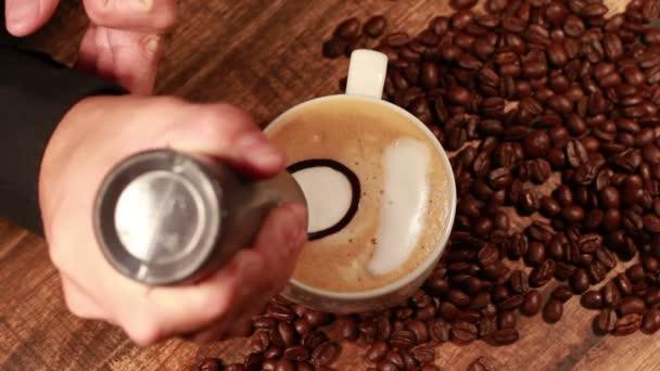 Cappuccino, malování, část druhá