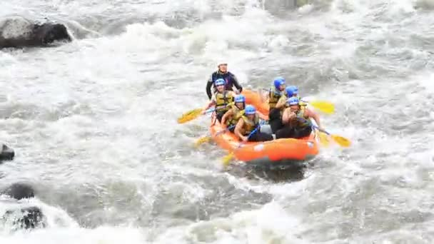 Whitewater River Rafting Boat With People Model Release Extreme Sport