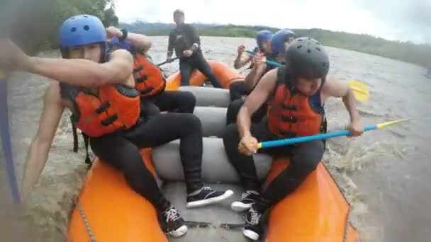 White Water Rafting Team Of Boys