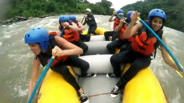 River Rafting Boat With Team Of Girls