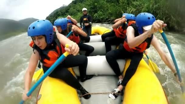 Immersive White Water Rafting Splashes