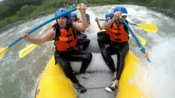 White Water Rafting Hard Paddling