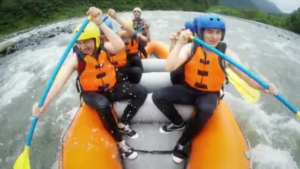 Group Of Tourists White Water Rafting On Pastaza River, Ecuador