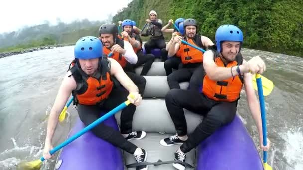 Super Slow Motion Of Rafting Boat