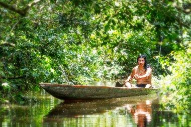 Indigenous Man Fishing