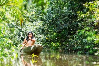 Indigenous Canoe Transportation Amazon