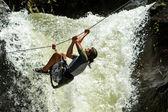 Photo Waterfall Rope Crossing