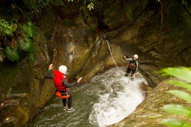 Canyoning Waterfall Free Jump