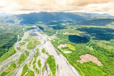 Pastaza River Exiting Andes Mountains Ecuador