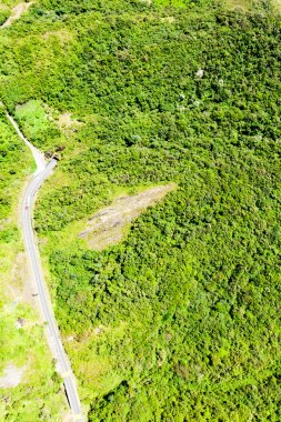 Pan American Road In The Ecuadorian Andes