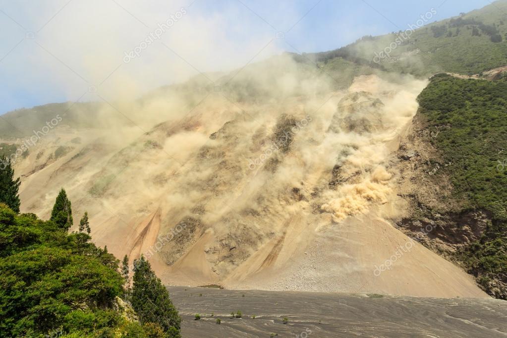 Massive Landslide At High Altitude In Ecuador