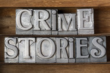 crime stories tray