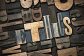Fotografie ethics word wood